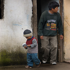 A trabajar / going to work / father and son (Romulo fotos) Tags: poverty morning family house latinamerica familia dawn casa ecuador village pueblo location latinoamerica looks worry fatherandson protection lack pobreza insecurity miradas bigandsmall padreehijo precariedad carencia alamanecer romulomoyaperalta proteccion preocupacion romulomoyaperalta grandeypequeno porlamanana saquisii situacion