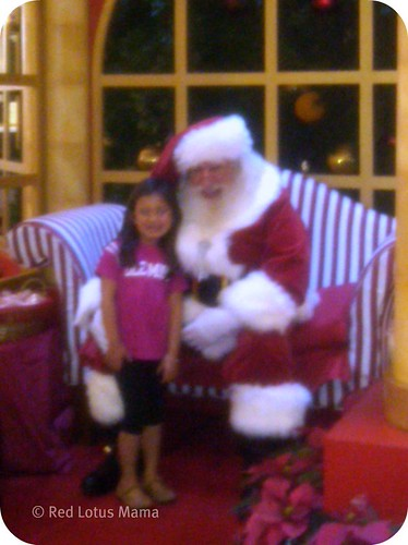Santa at Westfield North County Shopping Mall