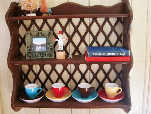 paris cafe shelf