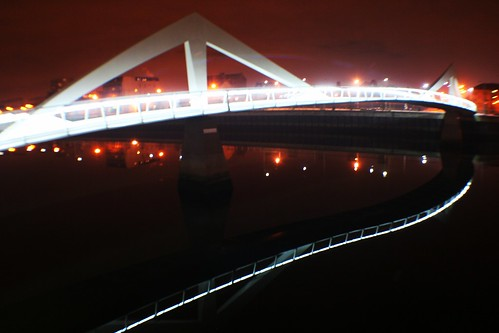 Broomielaw-Tradeston Bridge at Night