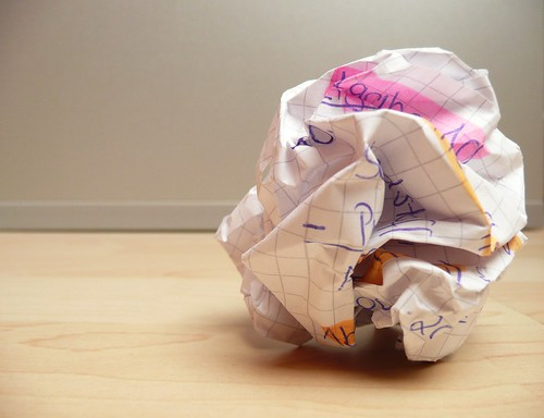 overcoming writer's block - crumpled pap by photosteve101, on Flickr