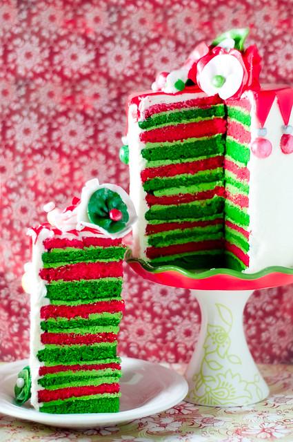 Festive Eggnog Christmas Cake