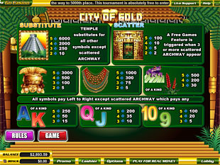 free City of Gold slot mini symbol