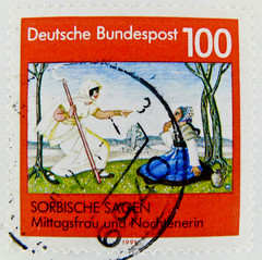 stamp Germany 100pf. saga myth Sorbische Sagen Deutschland Briefmarken mythe timbre allemagne leyenda selo alemanha  100 Pfennig  (stampolina) Tags: red rot fairytale postes germany square rouge deutschland rojo stamps stamp vermelho porto alemania timbre rood rosso allemagne postage franco fable germania alemanha vermilion fes merah mrchen selo marka  quadrat brd sagen sellos piros  punainen brg  rouges czerwony favola pulu krmz fiaba briefmarke cuentodehadas francobollo timbres timbreposte bollo frg   timbresposte  rdea  erven       mu  dyzh postapulu jyu  yupiouzhu gsh