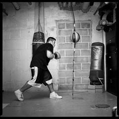 Boxing gym (emptysquare) Tags: bw film training mediumformat square box lowereastside documentary scan bronica projects boxing gym sqai madisonst loumendez thelodownny vladekhouses dannyegipciaco