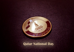 QND (qatari star) Tags: metal hands december day flag national 18 qatar 2010
