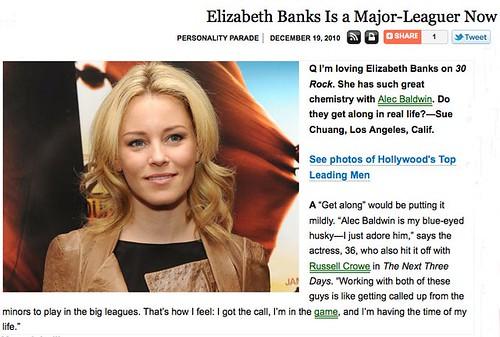 Elizabeth Banks Parade Magazine Alec Baldwin drollgirl