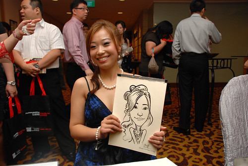 Caricature live sketching for Swiss Precision Dinner & Dance 2010 - 2
