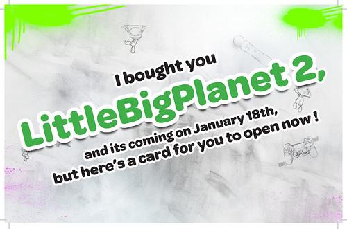 LittleBigPlanet 2: Holiday card (inside)
