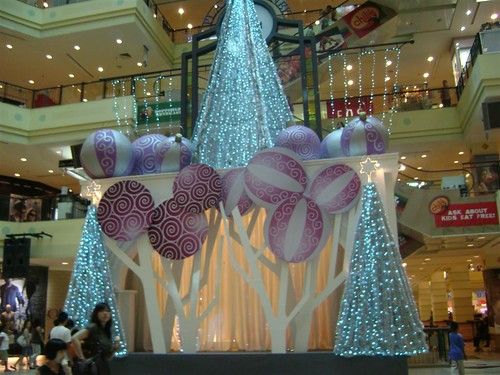 at gurney plaza they just use the simple christmas trees to decorate the concourse area simple is nice quite nice and save the place really much - Christmas Stage Decorations