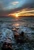 Sunset to Port Poussai    _Le Dramont_ (D@R) Tags: sunset france landscape lumix dramont portpoussai