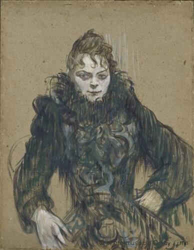 Femme au boa noir, Henri de Toulouse-Lautrec,  1892