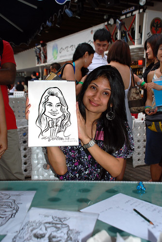 Caricature live sketching for VISA Beach Party 2010 -18