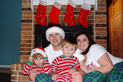 Annual Christmas Eve in our pj's picture.