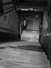 Subte (Lara Lew) Tags: street city building night stairs subway lights luces noche calle edificios buenosaires downtown centro ciudad nocturna