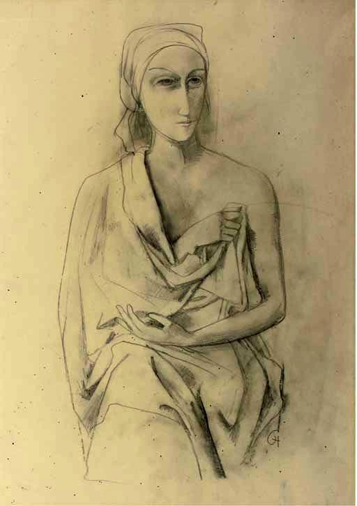 Hofer, Carl (1878-1955) - Woman in Drapery (Christie's Amsterdam, 2006)