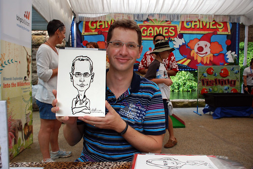 Caricature live sketching for BHP Billiton Family Day 2010- 38