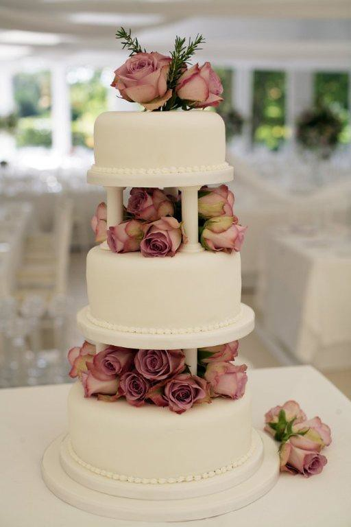 Dusty Rose Wedding Cake