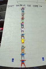 OS GEMEOS (TRUE 2 DEATH) Tags: autostitch panorama art museum graffiti mural sandiego parkinggarage character pano graf panoramic sd stitched osgemeos thetwins autostitched autopano mcasd  stitchedpanorama autopanopro museumofcontemporaryartsandiego osgemeosmcasd