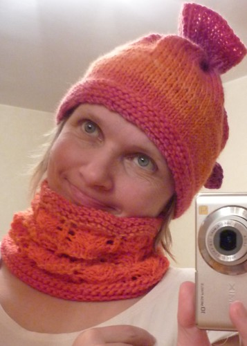 Orange Hat&cowl