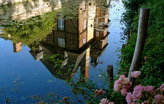 Grandchamp-le-Chteau (Michele*mp slowly catching up) Tags: summer france castle architecture reflections eau europe september normandie t normandy chteau reflets septembre paysdauge calvados halftimbered moats colombages douves grandchamplechteau michelemp