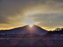 First sun rise of 2011 over Mt. Tsukuba (kawakamitakami) Tags: japan sunrise sony cybershot hdr ibaraki mttsukuba hx5v