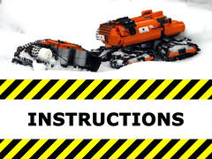 Indrik instructions (mahjqa) Tags: orange logo power lego offroad tracks technic vehicle functions instruction tracked moc studless indrik stilzkin