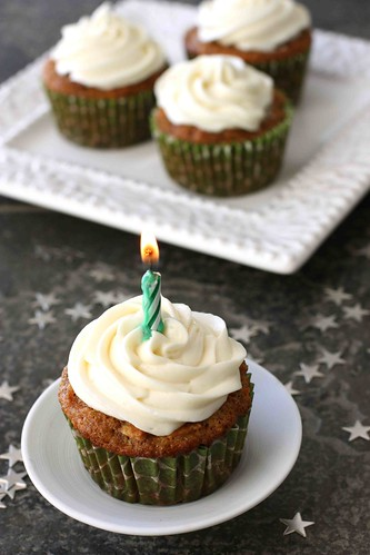 Carrot Ginger Cupcakes with Cream Cheese Frosting Recipe – 40th ...