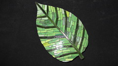 Leaf Me Alone (Ginny Sher) Tags: plant green art leaves leaf mosaic stainedglass