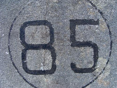 No 85 - black paint