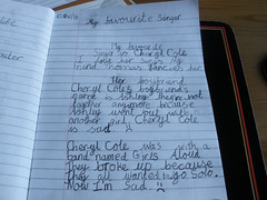 H had to write about her favourite singer.. LOL