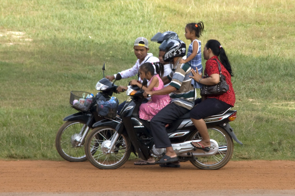 Family outing on a two-wheeler
