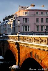 Across the New Bridge (1966maurice) Tags: bridge winter snow ayr newbridge oldbuilding sandgate riverayr