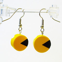 LEGO Pac Man Earrings 1