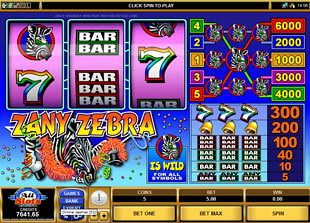 Zany Zebra slot game online review