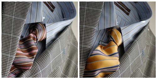 Blue Striped Shirt and Tie Mosaic