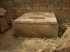 Implementation of prefabricated slabs (Sustainable sanitation) Tags: construction mud pipe adobe blocks pan vault household slab burkinafaso squatting uddt