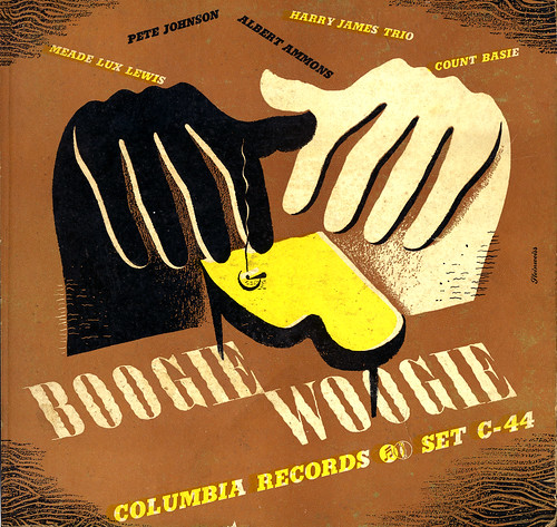 Alex Steinweiss album cover for Boogie Woogie
