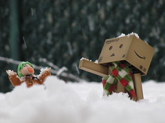 89/365 A Snow Day! (Yoshi Gizmo) Tags: girl japan canon toy actionfigure japanese doll powershot figure collectable yotsuba danbo revoltech 365project danboard sx200is yoshigizmo