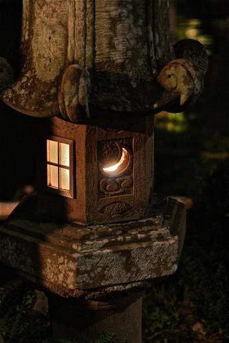 鶯啼庵の灯籠