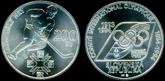 200 korún Slovensko 1994, Zimné olympijské hry