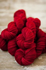 'Ruby Slippers' on Dream in Cashmere DK