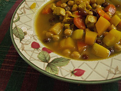 Something Warm (glantine) Tags: food chicken ginger warm cinnamon stock tasty bowl raisins delicious garlic carrots onion bol coriander turmeric cumin cilantro nourriture warming parsnip turnip celeriac lemonjuice comfortfood chickpeas tajine poischiches apptissant nourrissant chickentangine