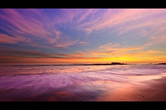 color splash (Eric 5D Mark III) Tags: ocean california sunset sky usa cloud seascape motion color reflection beach rock canon landscape twilight unitedstates pastel wave atmosphere wideangle orangecounty splash tone lagunabeach lowangle ef14mmf28liiusm eos5dmarkii