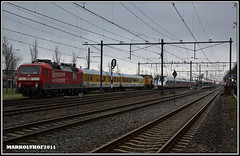 Zevenaar, 18-01-2011 (Mark Rail) Tags: db zevenaar br120 59992 meettrein strukton 120502 303001
