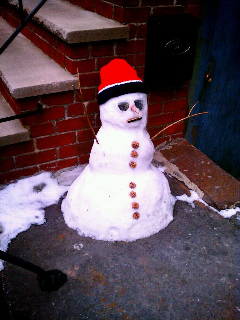 Snowman on Berry