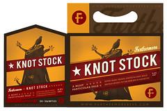 Knot Stock x 6 (EFG!) Tags: bird beer design graphicdesign stump packagingdesign furthermorebeer knotstock