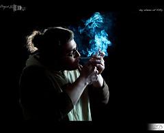 11|50 - Cigaret Time (HD Photographie) Tags: auto self project pentax cigarette smoke explorer explore hd 50 potrait projet herv fume k7 2011 absoluteblue strobist dapremont hervdapremont project50|50