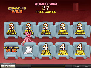 free Pink Panther slot bonus game 1