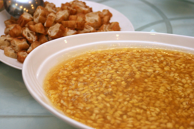 Tau Suan with grilled Youtiao